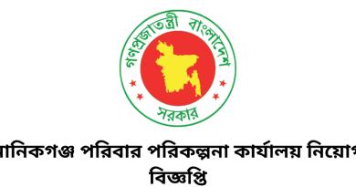 Manikganj Family Planning Office Job Circular