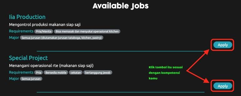 apply job di indomaret online