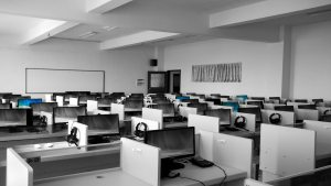 empty call centers amid corona virus
