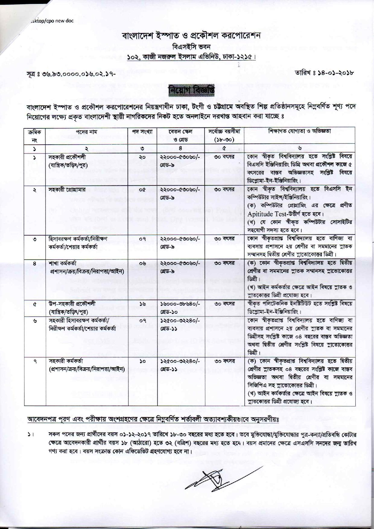 BSEC Admit Download Exam Date And Result 2018