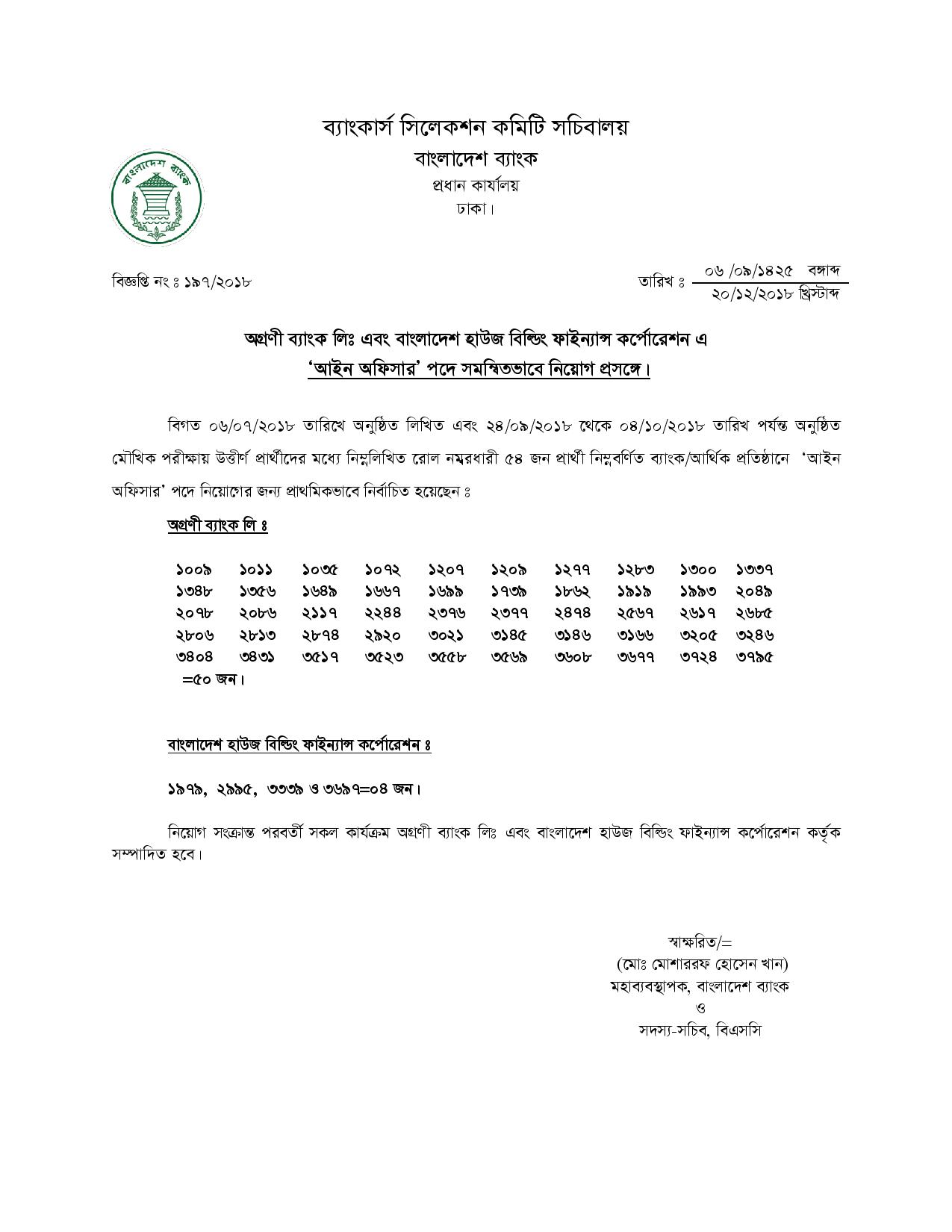Combined 2 Bank Official Exam notice