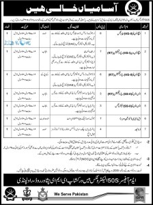 Pak Army Civilian Jobs 2016 Latest Advertisement