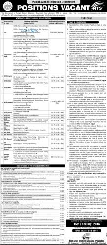 AEO's Jobs 2016 Punjab Eligibility Criteria & Syllabus