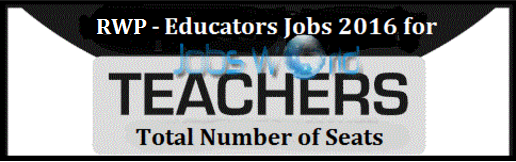 Rawalpindi Educators Teachers Jobs Total Seats 2016 & NTS Test