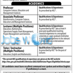Virtual University Pakistan Jobs 2016