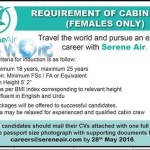 Female Cabin Crew Jobs 2016 In Serene Air Apply Online