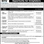 NTS Invigilators Next Procedure For Jobs 2016 (Interviews)