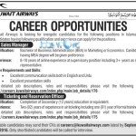 Kuwait Airways Jobs 2016 For Pakistani Nationals