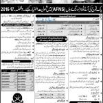 Pakistan Armed Forces Nursing AFNS Jobs 2016