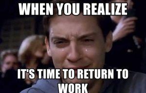 rientro al lavoro