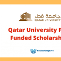 Qatar University Fully Funded Scholarships 2021