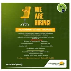Job Vacancies at Precision Air Tanzania 2020