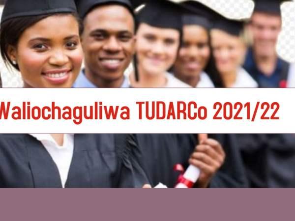 Majina ya wanafunzi waliochaguliwa TUDARCO selected applicants 2021/22, Tumaini University Dar es Salaam College (TUDARCO) selected candidates 2021/22, TUDARCO Selected Students 2021/22