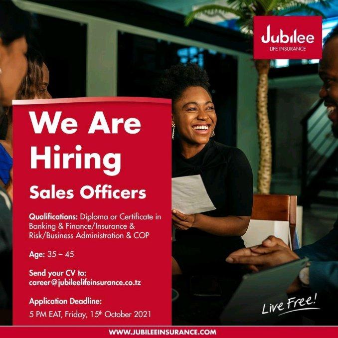 Job Vacancies at Jubilee Life Insurance Corporation Of Tanzania 2021, jubilee life insurance tanzania job vacancies, insurance tanzania jobs