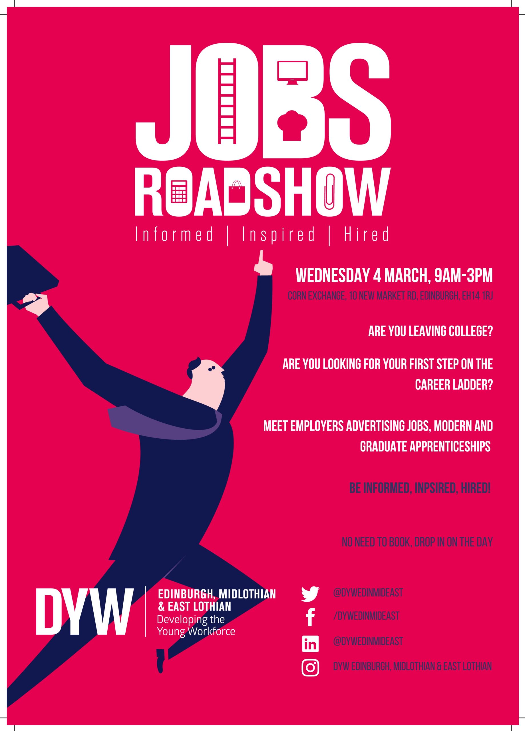 Jobs Roadshow Poster College A4 PRINT-jpg