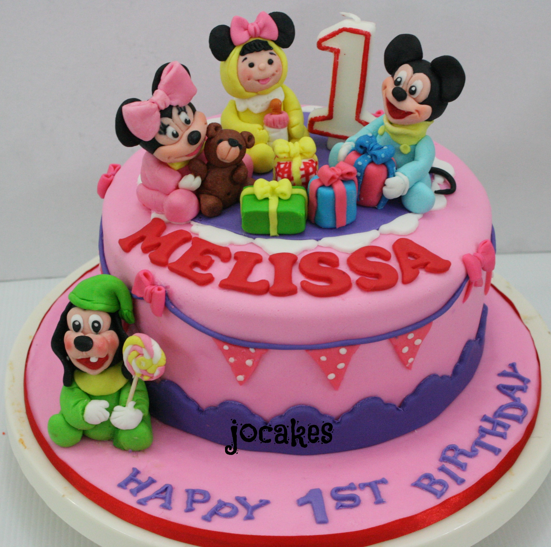 Mickey And Minnie Mouse Cake Jocakes