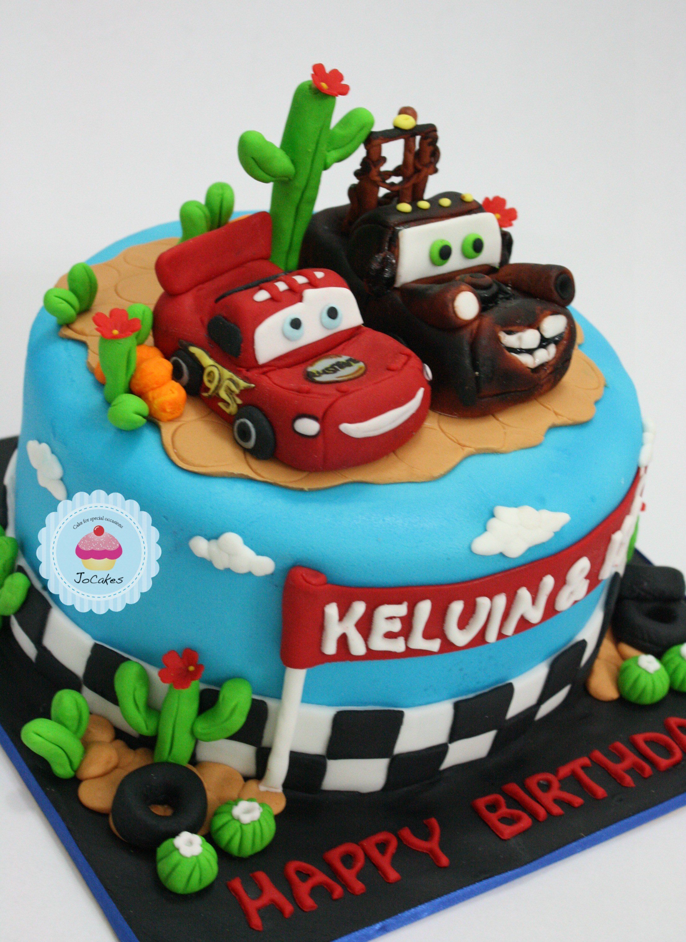 Cars Cake For Father And Sons S Birthday