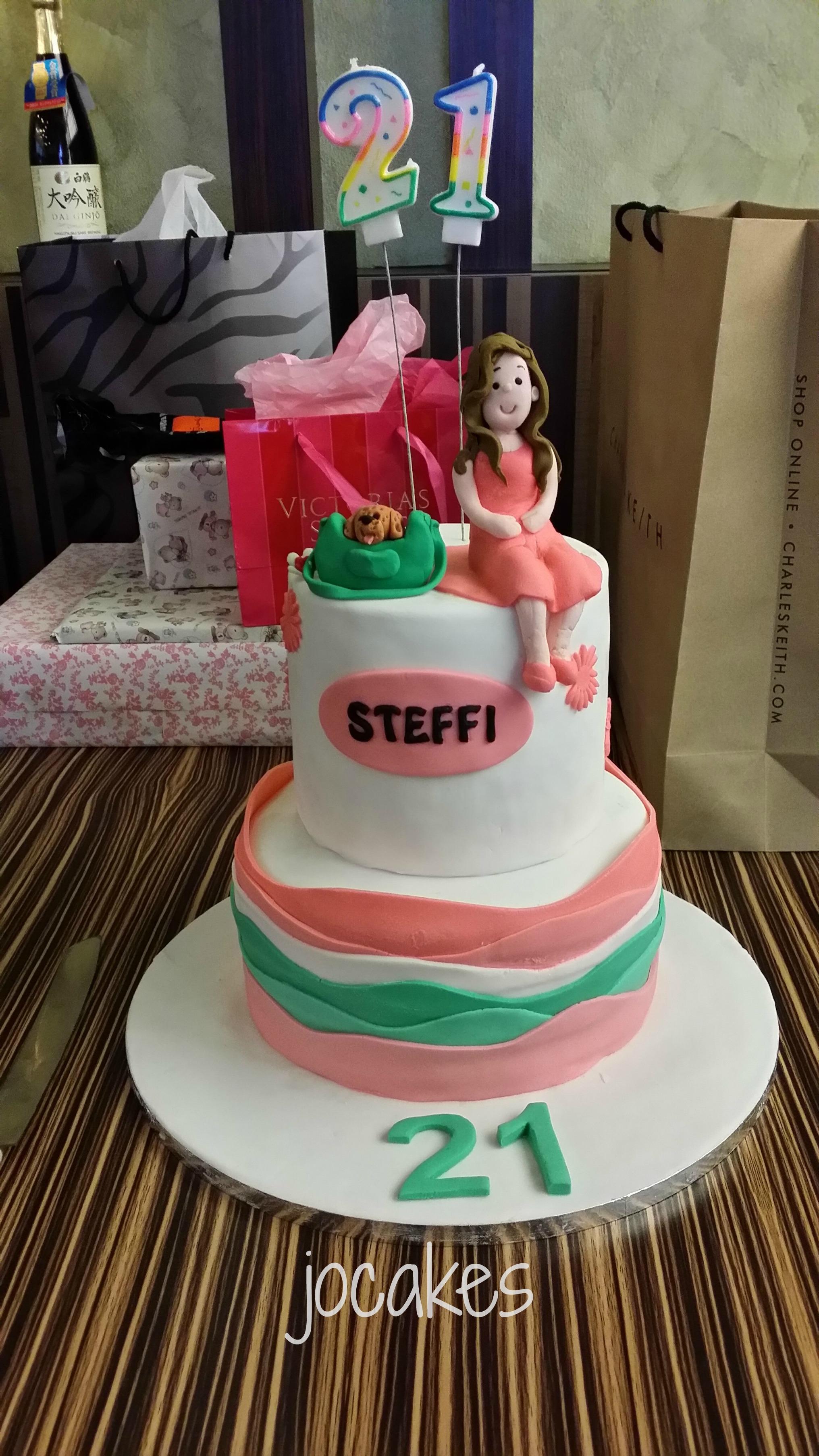 Steffi S 21st Birthday Jocakes