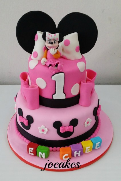 Minnie Mouse Cake For 1 Year Old En Chee Jocakes