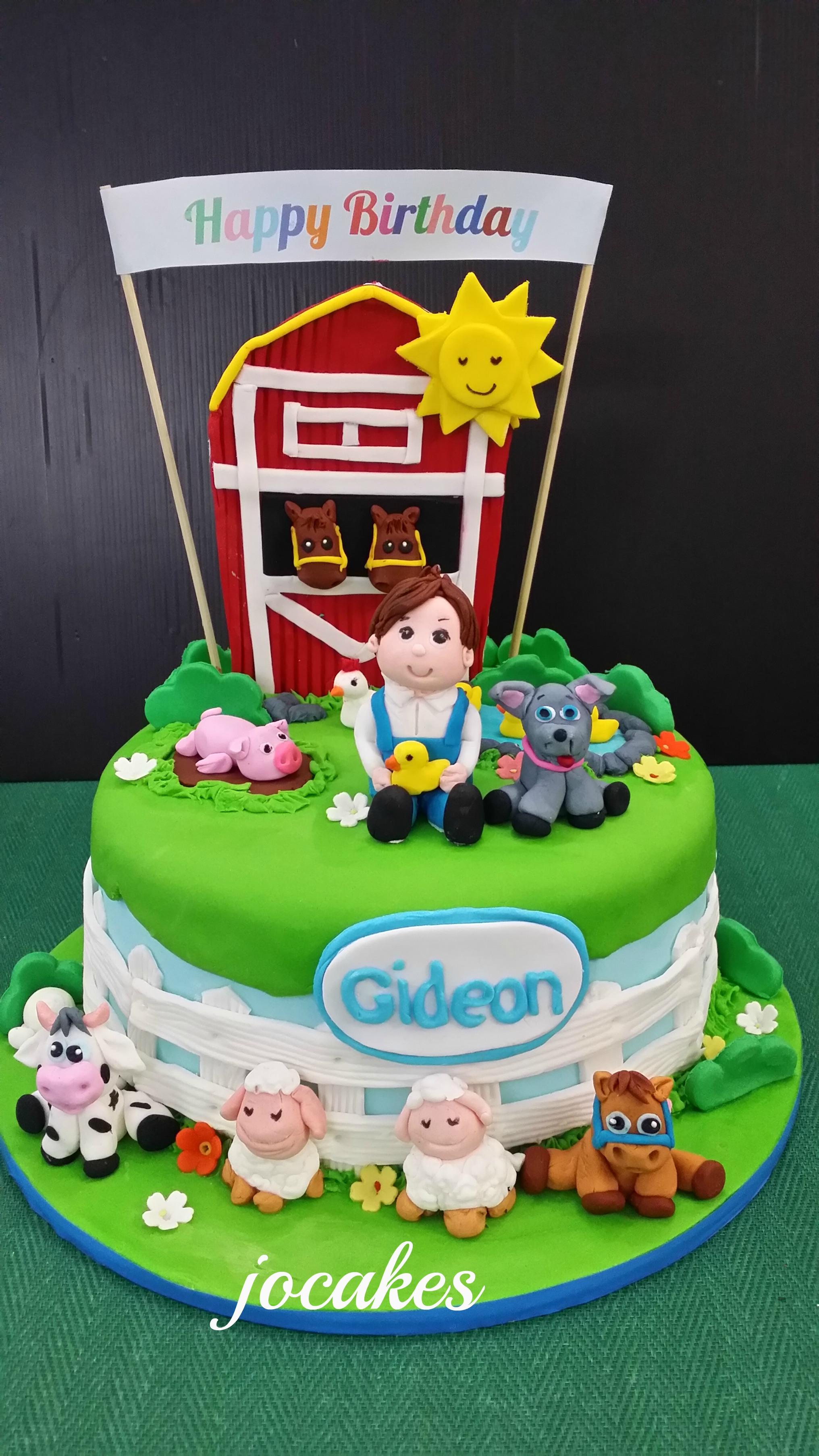 Farm Animal Cake