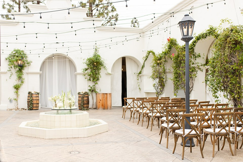 The courtyard of Villa & Vine before guests arrive.