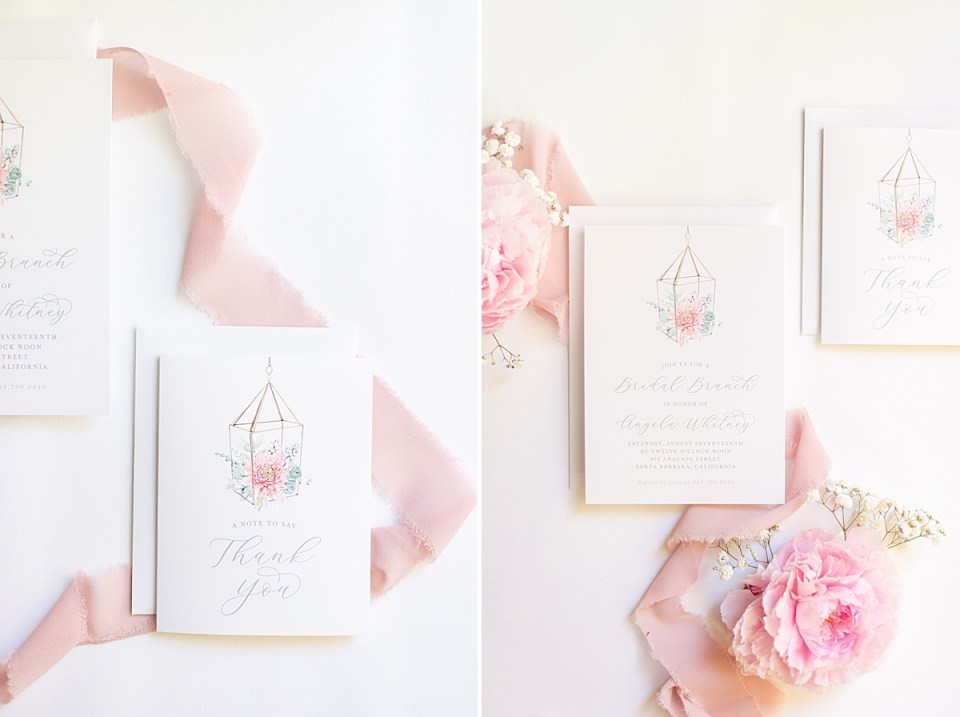 The bride and groom's invitation suite.