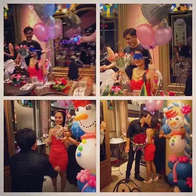 marriage proposal idea using balloons