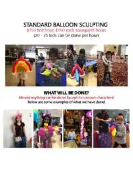 Professional balloon sculpting services
