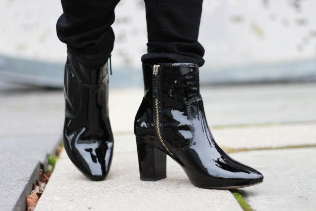 J.Crew Patent Leather Ankle Boots