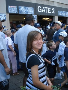 This is me anxiously waiting outside one of the gates at the Stadium.