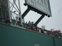 My brother, Mom, and myself atop the Green Monster during our pre-game stadium tour