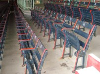 Some of the original seating at Fenway Park