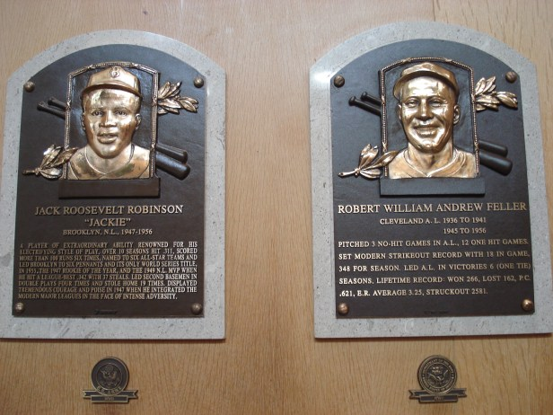 My two favorite members of the Baseball Hall of Fame. They just happen to be right next to each other