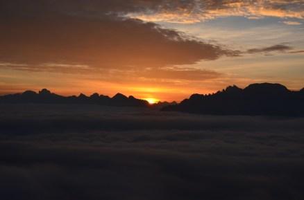 L'alba sulle dolomiti