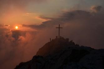 La cima del Corno Bianco verso sera