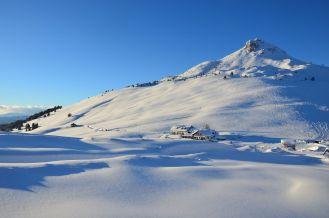 Weißhorn mit Berghotel Jochgrimm