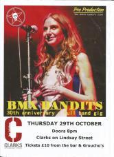 BMX Bandits gig poster 29 Oct 2015