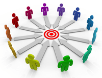 moving an audience towards a targeted goal