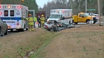 Accident - School Bus - Raleigh Road, 02-08-18-2JP