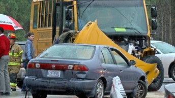Accident - School Bus - Raleigh Road, 02-08-18-4JP