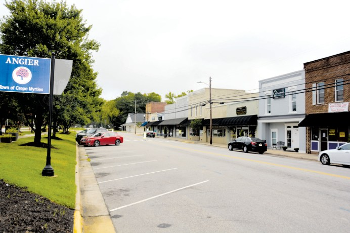 The Town of Angier, shown here, was recognized this week as a Small Town Main Street Community. The award is given to towns who make a significant effort to improve their downtown areas.