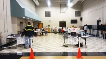 One-stop early voting began Tuesday at three locations in Johnston County including the First Baptist Church Ministry Center in Smithfield (pictured). JoCoReport.com Photo