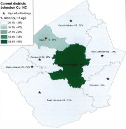 High School Attendance Areas Percentage Of Minority Population