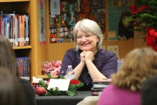 Local author Julia Day is introduced to guests at the JOCO Reads event.
