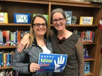 Benson Middle School Counselor Melissa Lee (left) and Benson Elementary School Counselor Susan Hage (right) celebrate National School Counseling Week.
