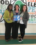 Riverwood Elementary School Principal Leigh White (center) celebrates National School Counseling Week with counselors Rae-Ann Headley-Allen (left) and Lauren Brown (right).