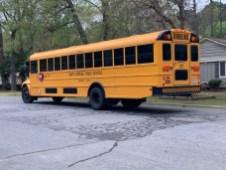Accident - School Bus, Booker Dairy Road, 04-09-19-1JP