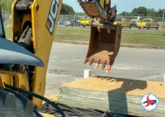 A backhoe competition on Thursday in Goldsboro.