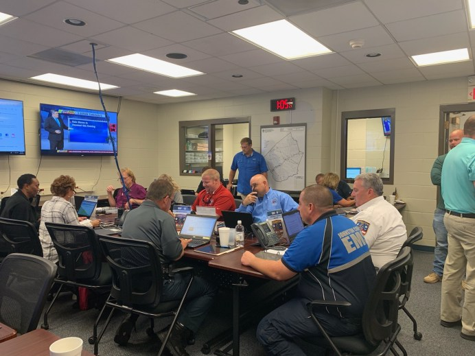 The Johnston County Emergency Operations Center inside the Johnston County Courthouse in Smithfield was activated at Noon on Thursday and will operate 24 hours a day until further notice.