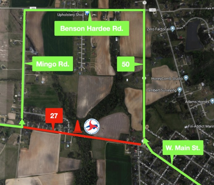 Benson - Highway 27 Detour Map 01-24-20